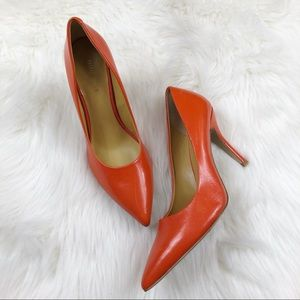 NWOB Nine West Flax Red Leather Pumps